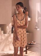 Button Detail Tank Nightgown, Pink