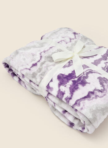 Marble Print Blanket, Purple,  fall winter 2020, blanket, gift, holidays, holidays 2020