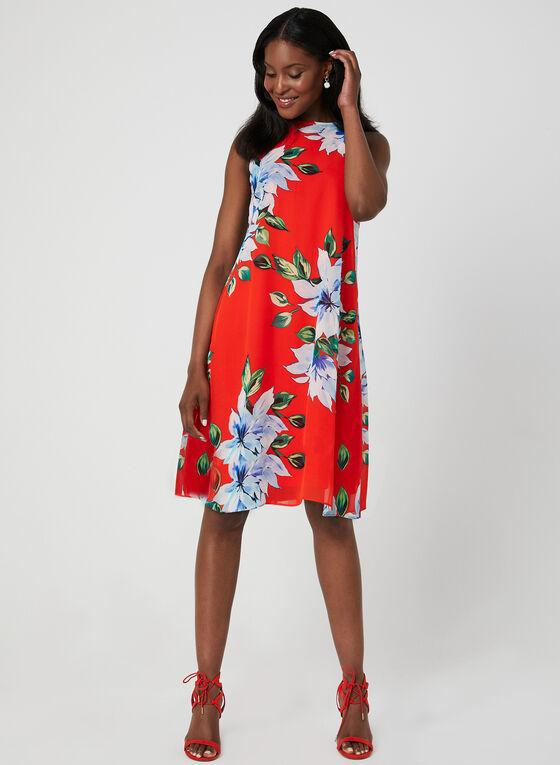 Jessica Howard - Robe trapèze fleurie , Orange, hi-res