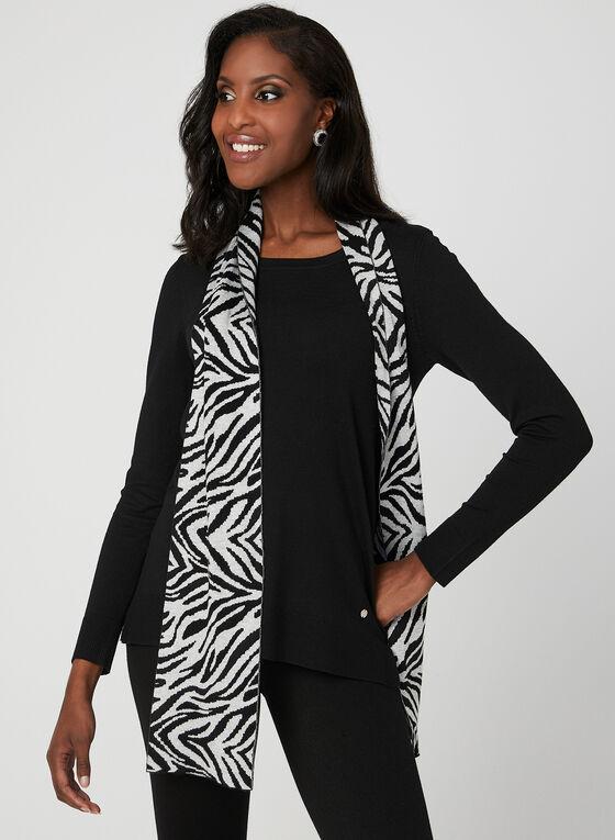 Knit Sweater & Scarf Set, Black, hi-res