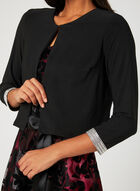 Crystal Embellished Bolero , Black, hi-res