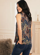 Floral Print Sleeveless Blouse, Multi