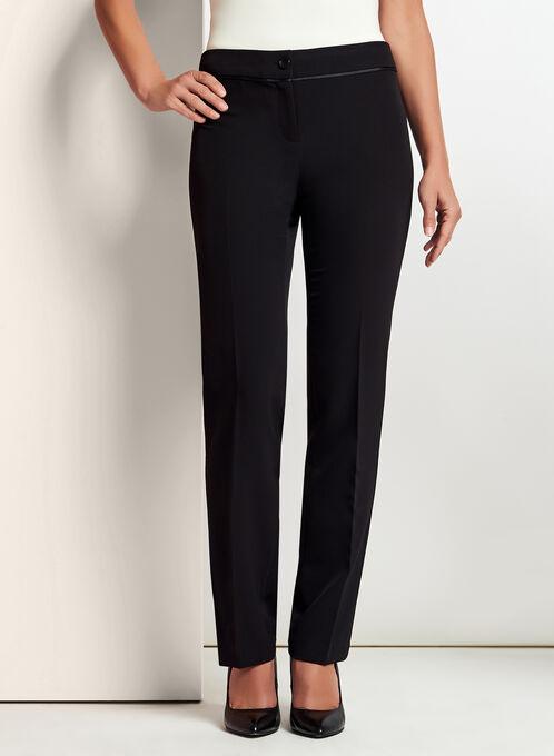 Pantalon à jambe droite coupe moderne, Noir, hi-res
