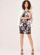 Robe fourreau à motif floral , Noir, hi-res