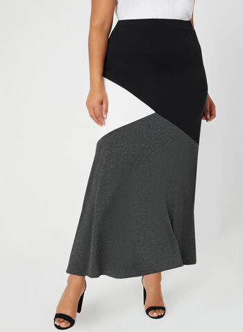 Jersey Maxi Skirt, Grey, hi-res,  Spring 2019, maxi skirt, long skirt, jersey
