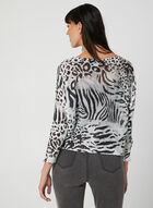 M Made in Italy - Pull animalier en tricot, Gris