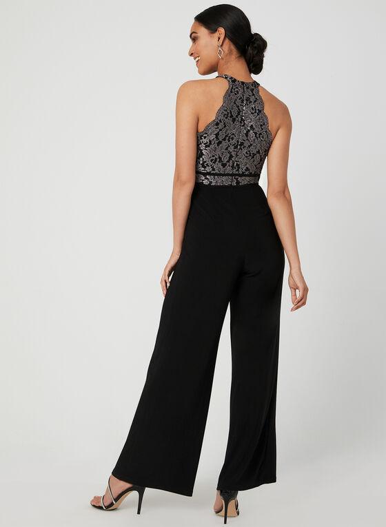 Lace Bodice Jumpsuit, Black, hi-res
