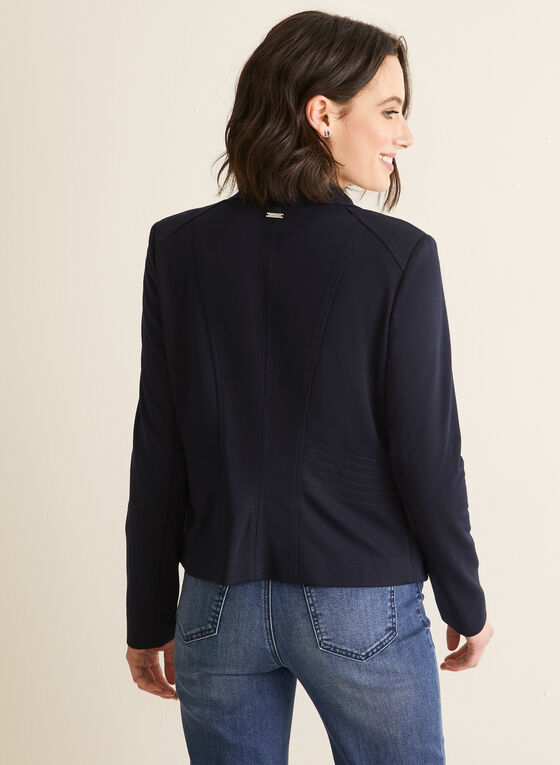 Topstitch Blazer, Blue