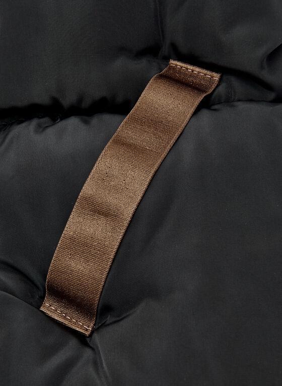 Foulard matelassé en nylon, Noir