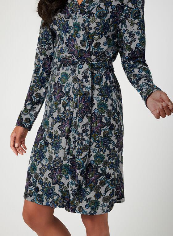 Hamilton - Robe de chambre fleurie, Bleu, hi-res