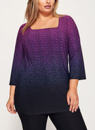3/4 Bell Sleeve Jersey Top, Red, hi-res