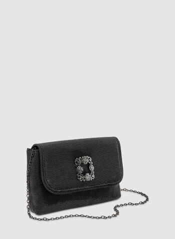 Glitter Flap Over Clutch, Grey,  fall winter 2019, glitter, evening bag, clutch, crystal