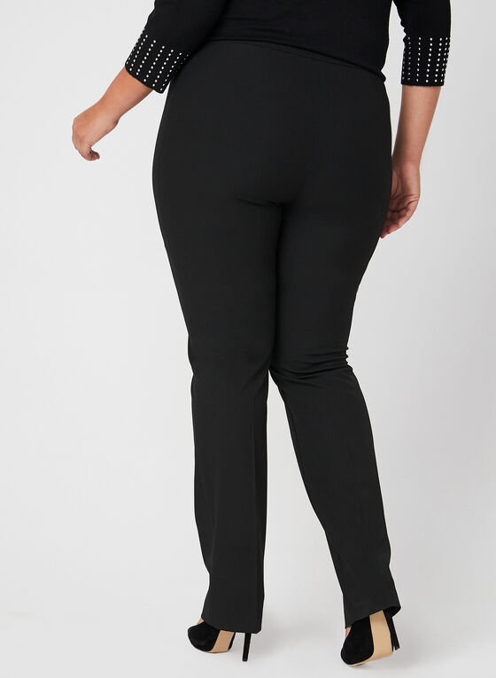 Pantalon coupe moderne jambe droite, Noir, hi-res