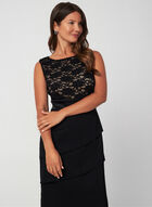 Lace Bodice Dress, Black
