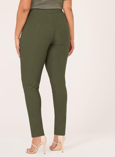Bengaline Pull-On Straight Leg Pants
