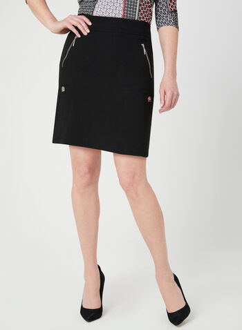 Simon Chang - Microtwill Skort, Black, hi-res,  short skirt, zipper, spring 2019, short