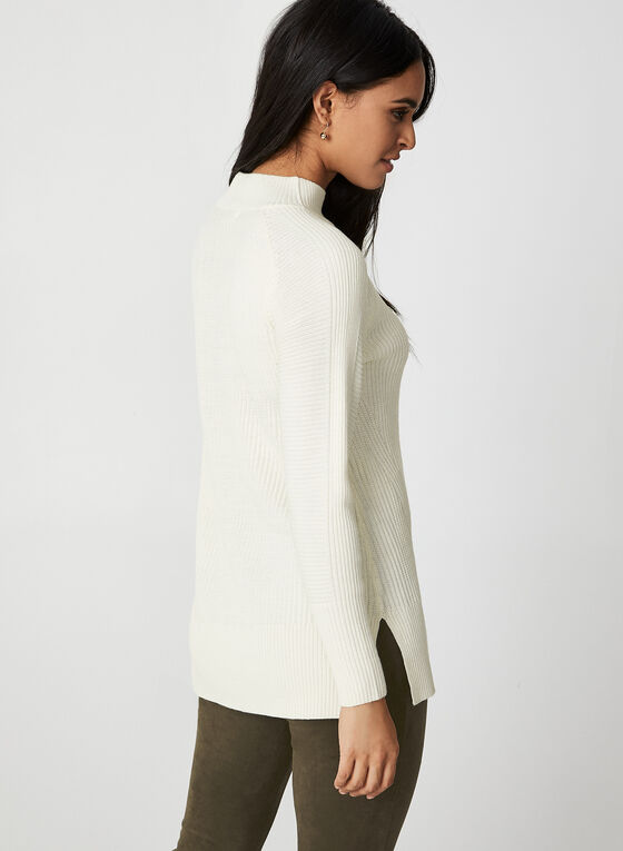 Rib-Knit Sweater, Off White