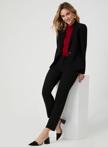 Modern Fit Slim Leg Pants, Black, hi-res,  fall 2019, winter 2019