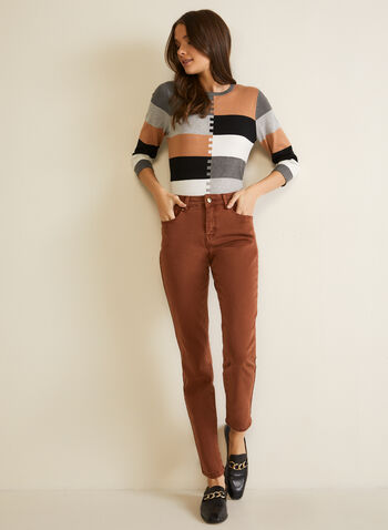 Straight Leg Jeans, Brown,  jeans, denim, pockets, straight, mid rise, fall winter 2020