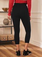 Legging capri pull-on, Noir