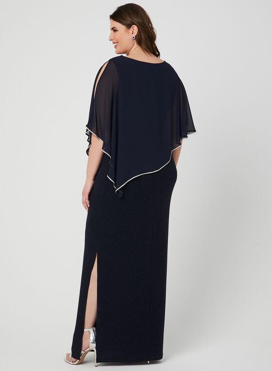 Frank Lyman - Chiffon Poncho Dress, Blue, hi-res