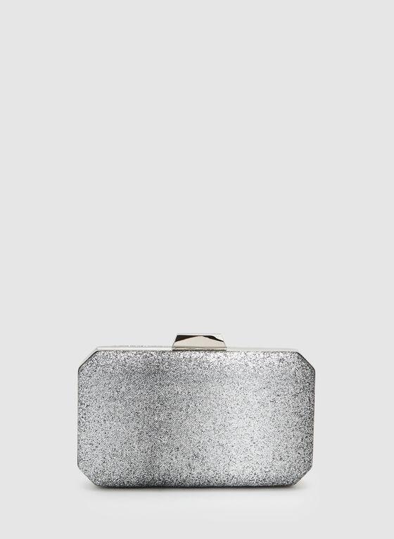 Pochette pailletée rectangulaire, Argent, hi-res