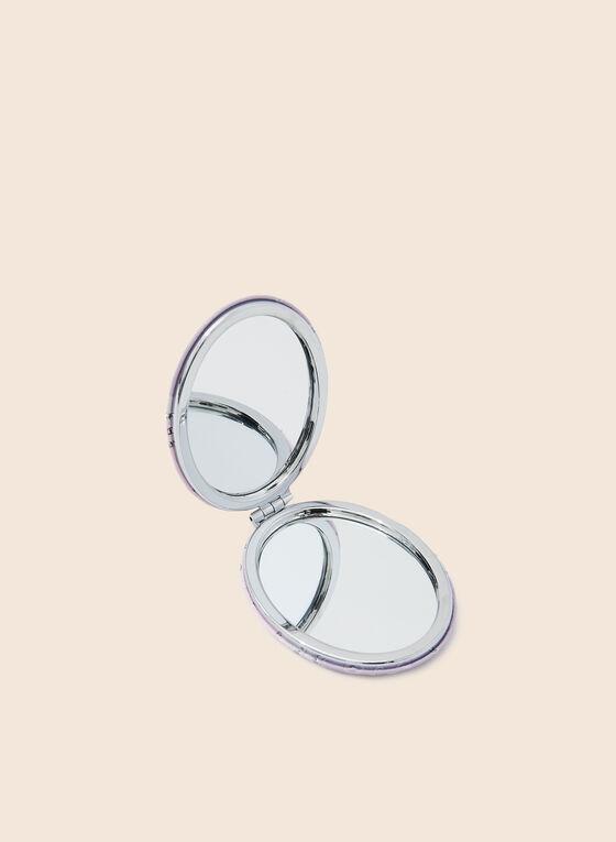 Miroir de poche ovale motif chats, Rouge