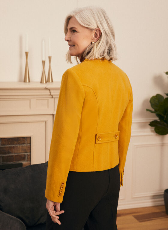 Wool & Cashmere Blend Jacket, Yellow