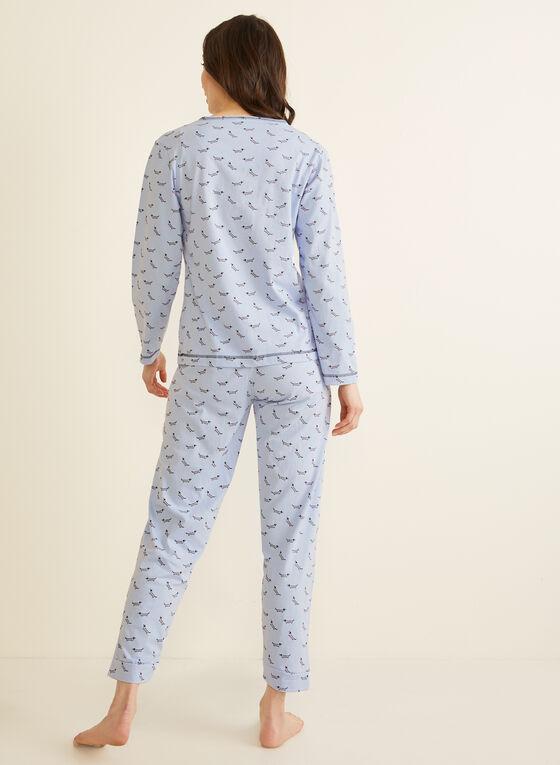 Karmilla Lingerie - Pyjama 2 pièces motif chiens, Bleu