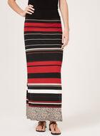 Stripe Print Pull-On Maxi Skirt, Black, hi-res
