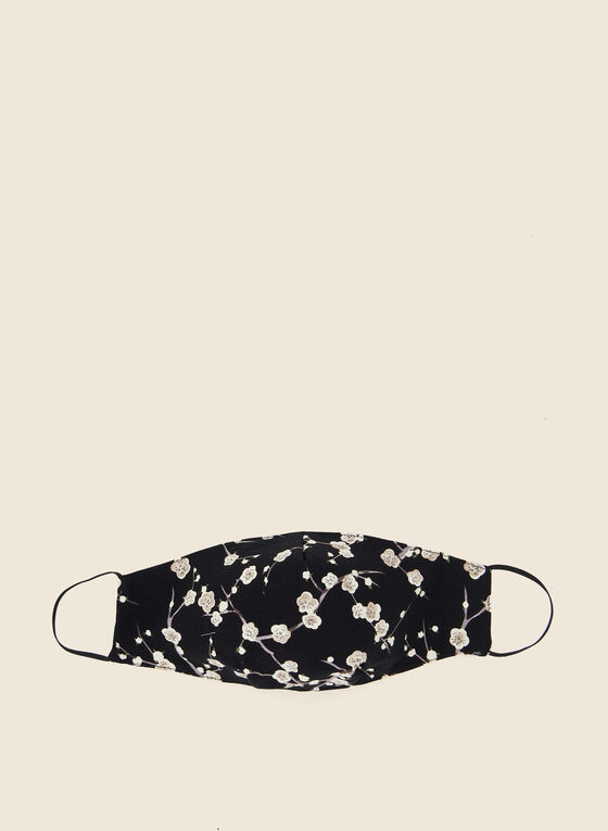 Pin Point - Masque en tissu motif floral, Noir