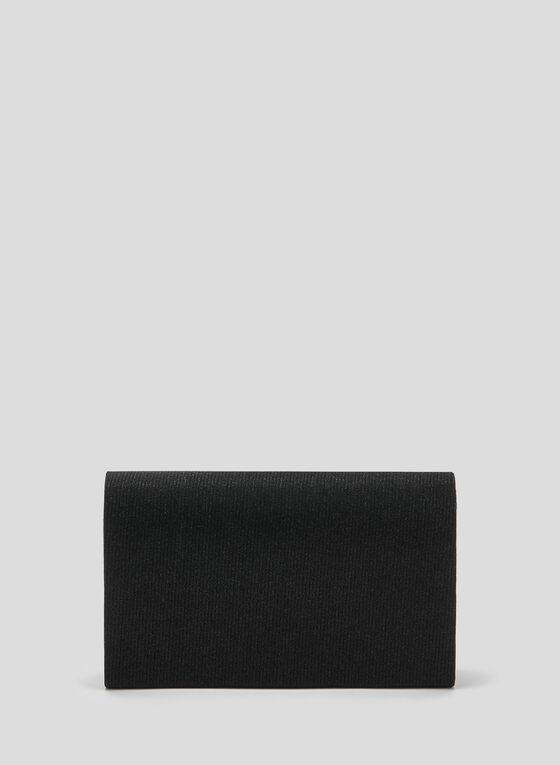 Glitter Evening Clutch, Black