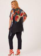 Blouse poncho fleurie , Multi, hi-res