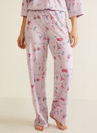 Parisian Print Pyjama Set, Purple