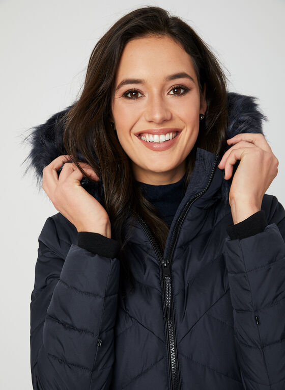 Novelti - Reflective Down Coat, Blue, hi-res