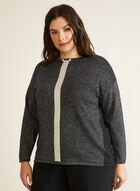 Chandail tunique en tricot , Noir