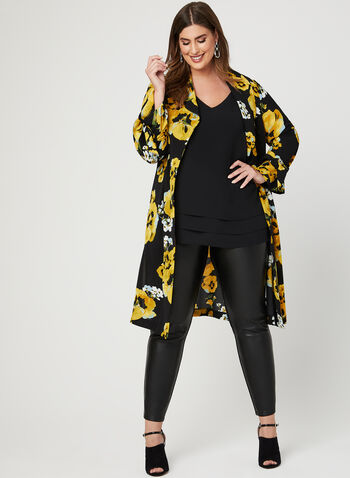 Sleeveless Bubble Crepe Blouse, Black, hi-res