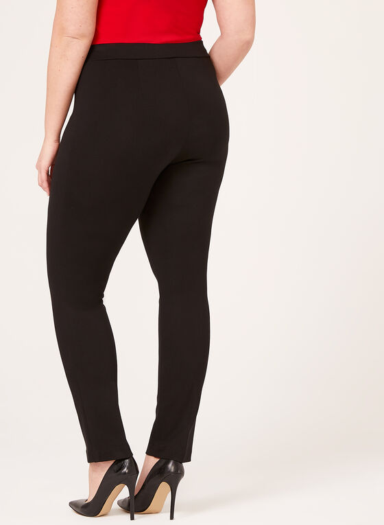 Pantalon pull-on coupe signature à jambe étroite, Noir, hi-res
