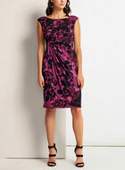 Floral Print Faux Wrap Dress, Red, hi-res