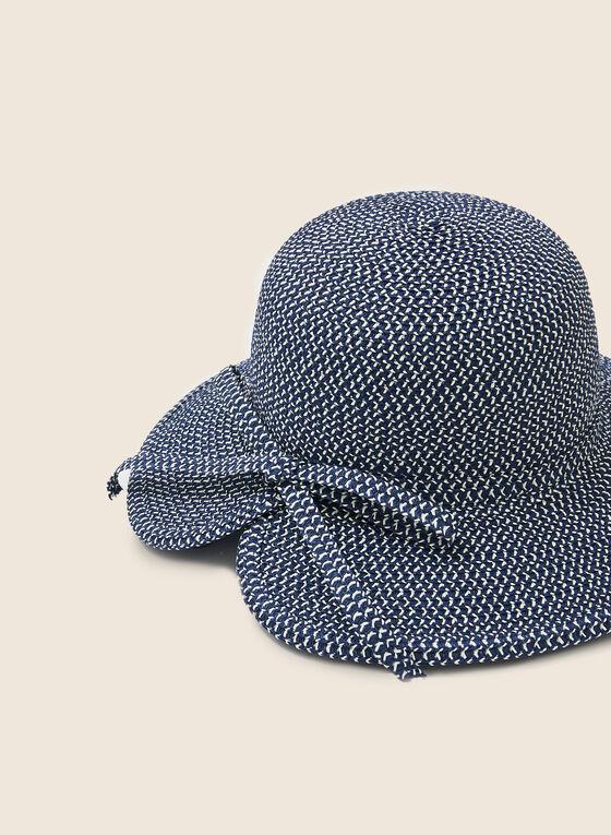 Bow Detail Cloche Hat, Blue