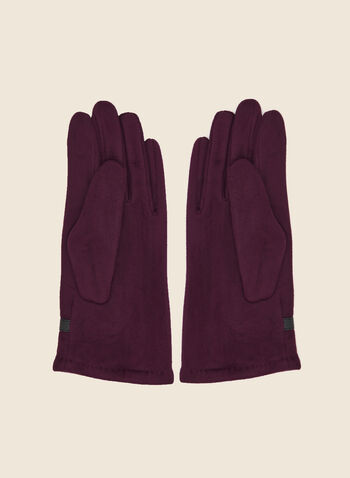 Buckle Detail Faux Suede Gloves, Purple,  fall winter 2020, vegan suede, vegan, faux suede