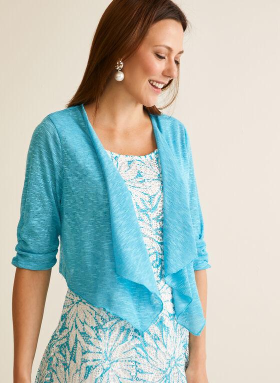 Bolero & Crochet Dress Set, Blue
