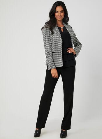 Haut étagé avec détail métallisé, Noir, hi-res,  haut, étagé, jersey, sans manches, détail métallisé, automne hiver 2019