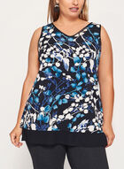 Sleeveless Jersey Tunic Top, Blue, hi-res