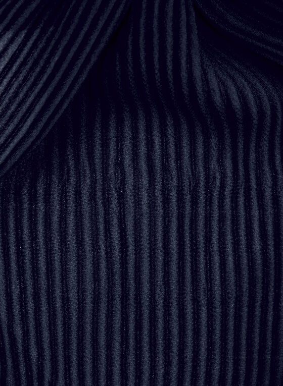 Pleated Scarf , Blue, hi-res