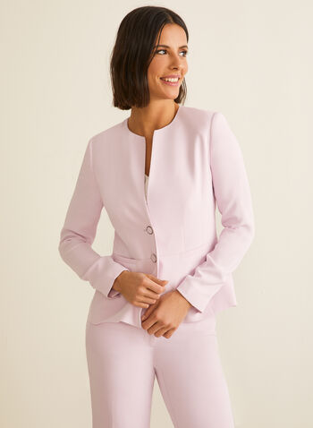 Two-Button Blazer, Purple,  two-button, long sleeves, jacket, blazer