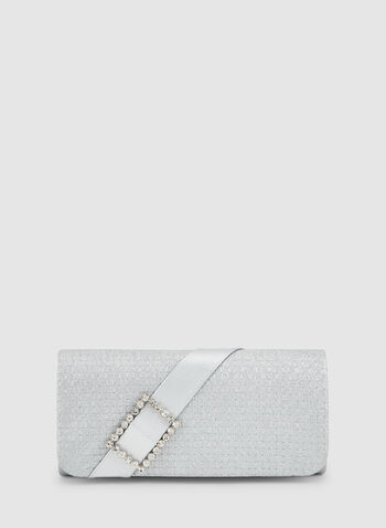 Glitter Clutch, Silver, hi-res,  fall winter 2019, clutch, evening bag