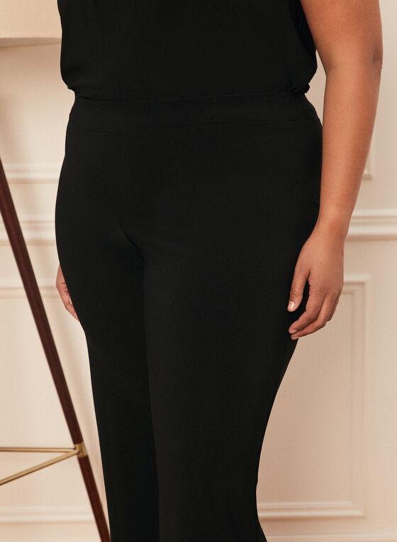 Pantalon pull-on à jambe large , Noir