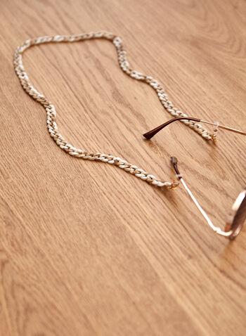 Chaîne à lunettes en maillons , Brun,  printemps été 2021, accessoires, lunettes, lunettes de soleil, maillons, chaîne, résine, plastique
