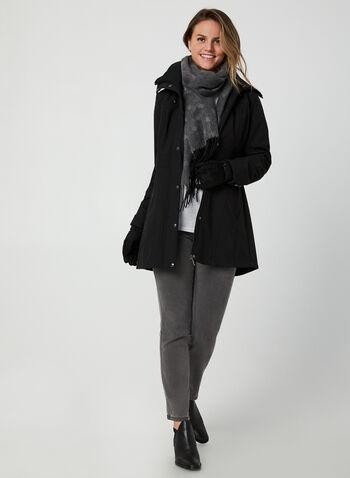Weatherproof - Manteau court à col côtelé , Noir, hi-res,  Weatherproof, manteau, automne hiver 2019, doublure polaire, extérieur